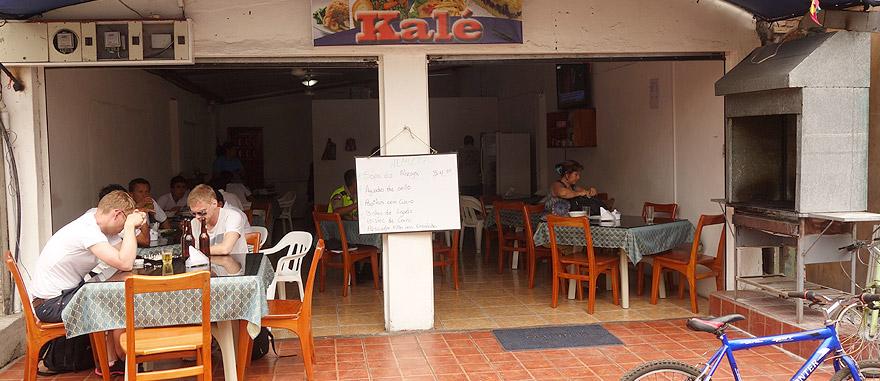 Bar restaurante Kalé - $4 USD o menu, em Puerto Ayora – Restaurantes nas Galápagos
