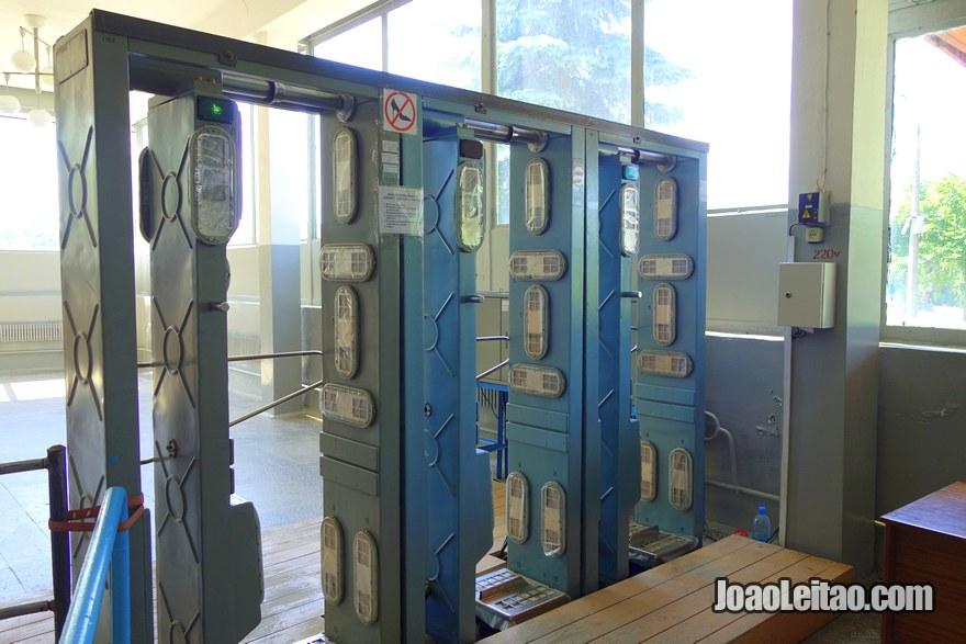 Chernobyl Compulsory Radiation Control at Dytyatki checkpoint