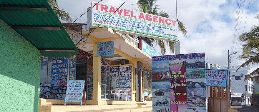 Agência de viagens em Puerto Ayora, Galápagos