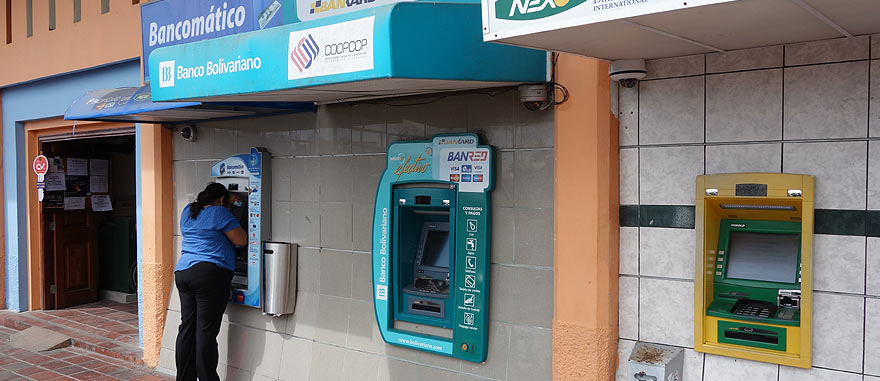 ATM cash machines in Puerto Ayora - Santa Cruz Island Galapagos