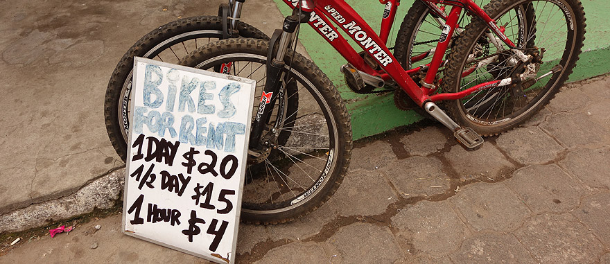 Aluguer de bicicletas nas Galápagos