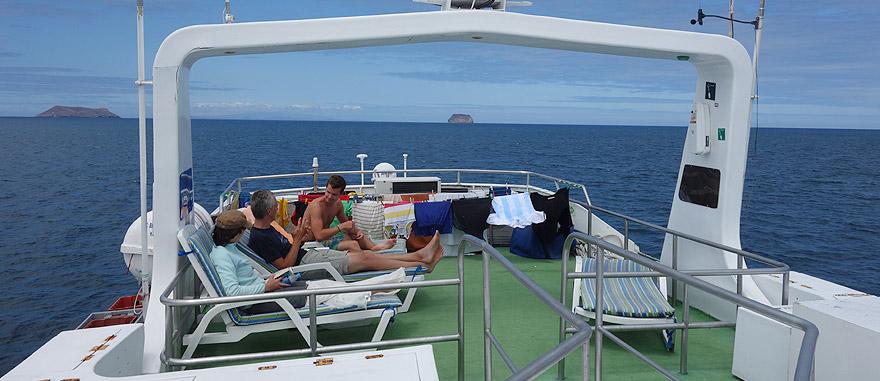 Upper Deck of Estrella del Mar Galapagos Cruise