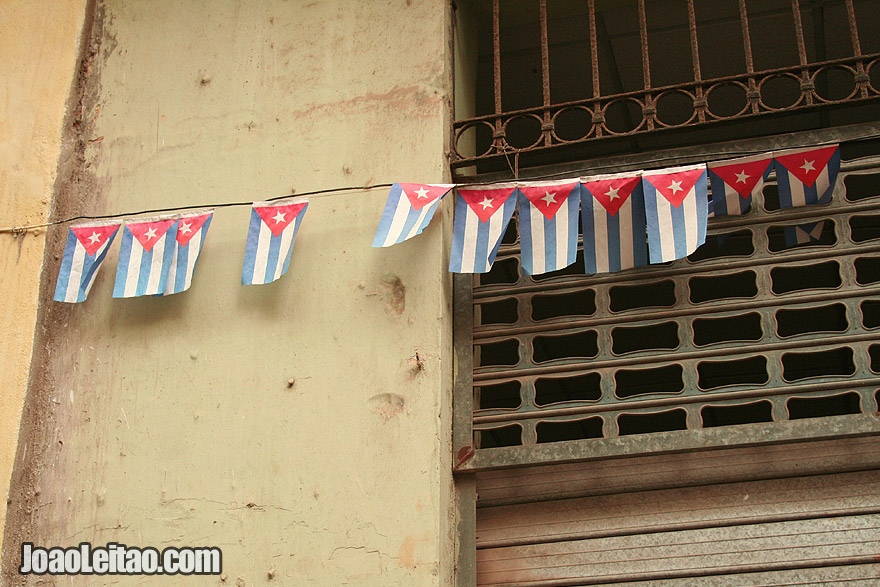 Cuban flags decoration