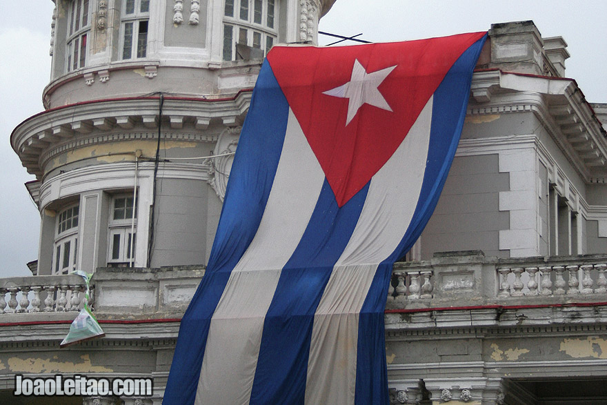 Huge Cuban flag in Havana