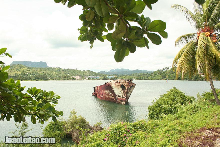 Shipwreck near Baracoa