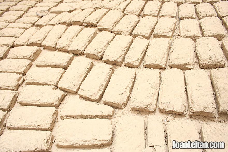 Traditional mud bricks