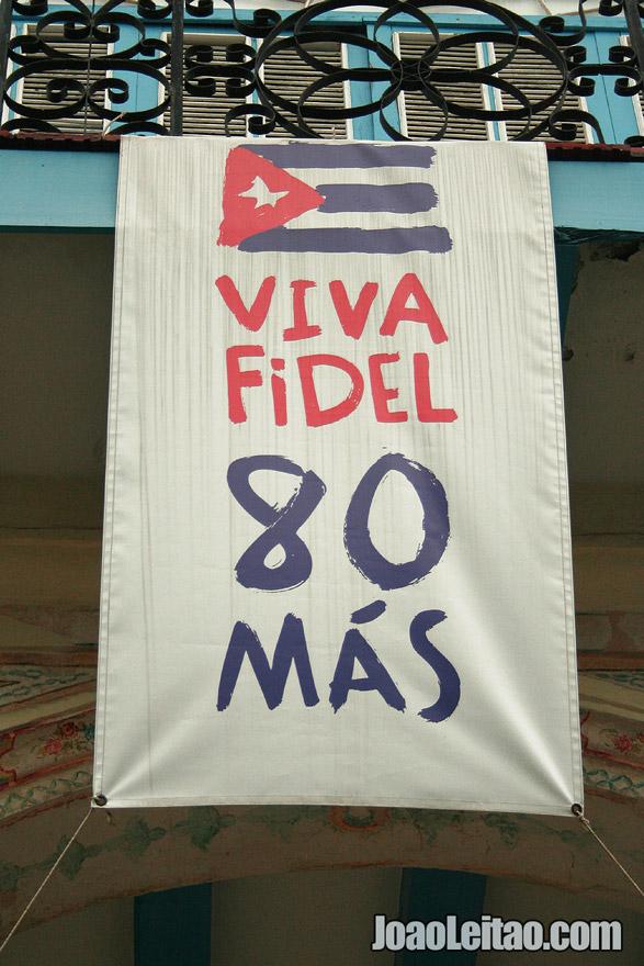 Viva Fidel 80 Más - Viva Fidel, mais 80 anos. Havana