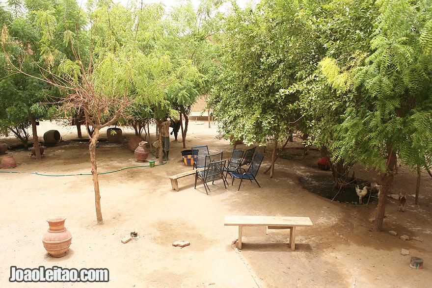 Malian house courtyard