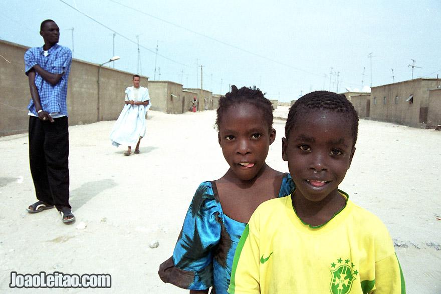 Wolof boys in Nouadhibou, Mauritania