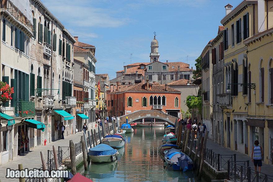Venice beautiful water canal scene