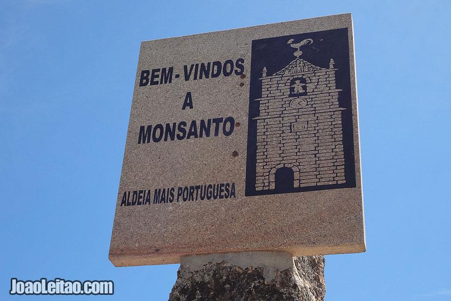 Monsanto Welcome sign