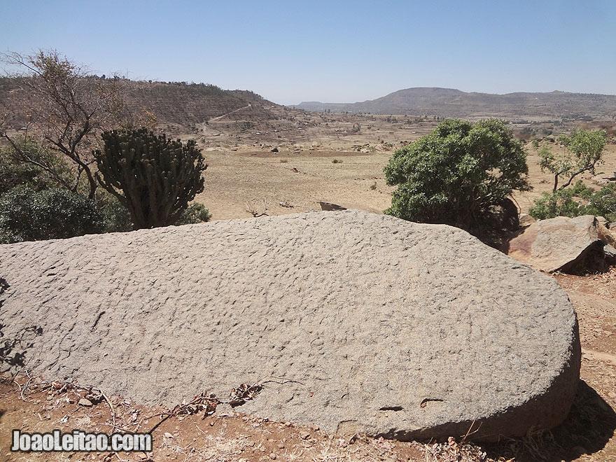Ancient stone quarries in Axum, Ethiopia