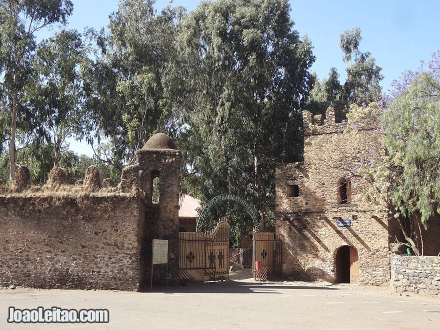 18th century Gondar Atatami Kidus Mikael church built by Emperor Dawit III, Ethiopia