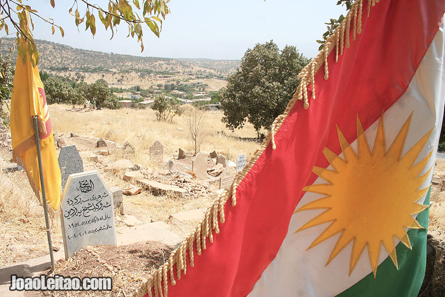 Kurdish heroes cemetery in Barzan
