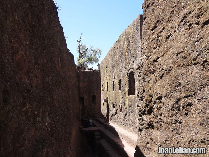 Rock-Hewn Church of Bet Golgotha in Lalibela