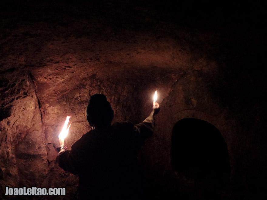 Inside the King Bazen Tomb in Axum, Ethiopia