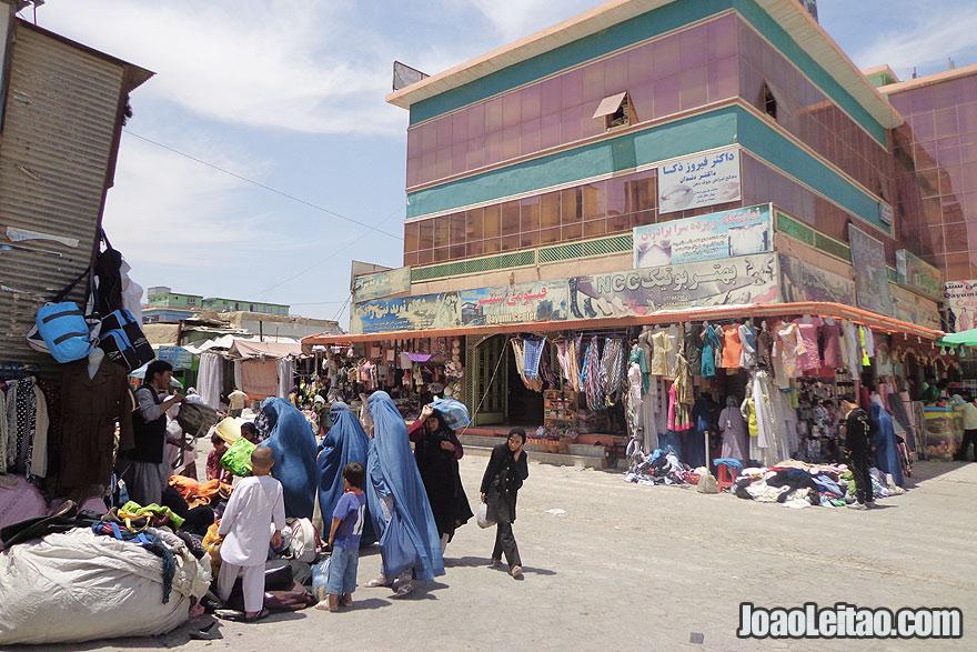 Shopping in Mazar-i-Sharif, Afghanistan