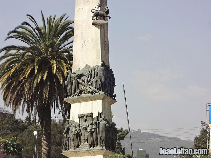 Yekatit 12 Square Monument in Addis Ababa, Ethiopia