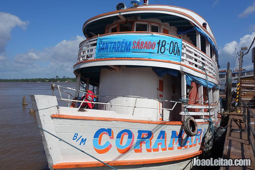 Boat CORAMAR II - Macapá to Santarém