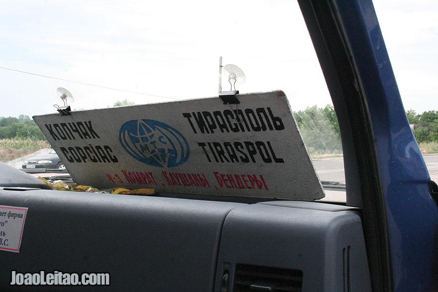 Minibus from Comrat to Tiraspol - Gagauzia to Transnistria