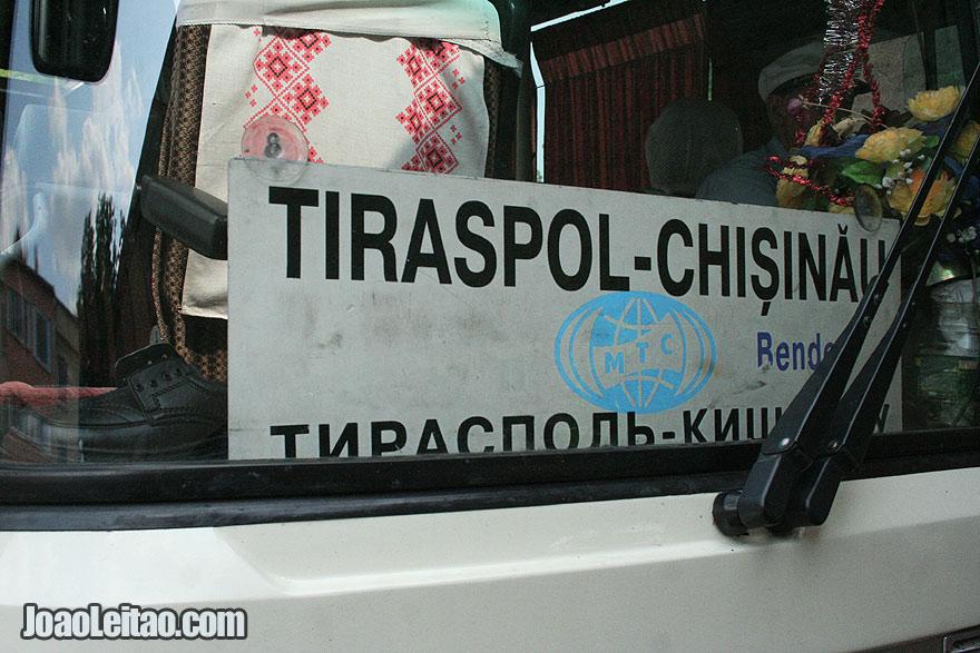 Bus from Tiraspol to Chisinau - Moldova to Transnistria
