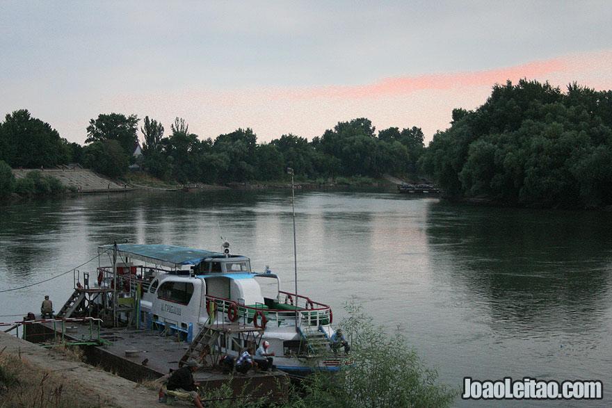 Boat on the Dniester River in Tiraspol