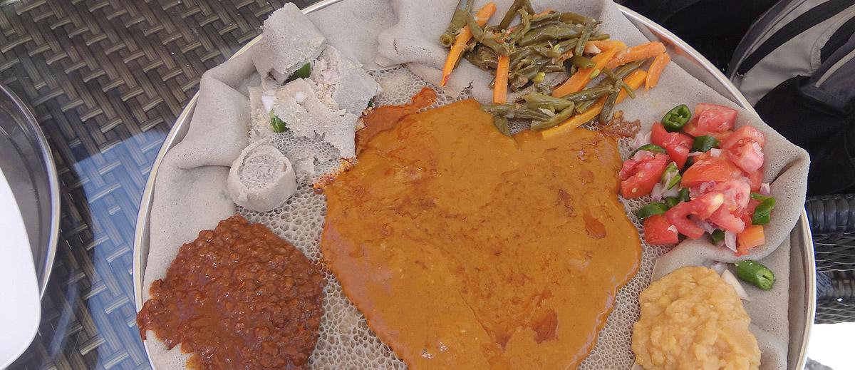 Injera - the national dish of Ethiopia