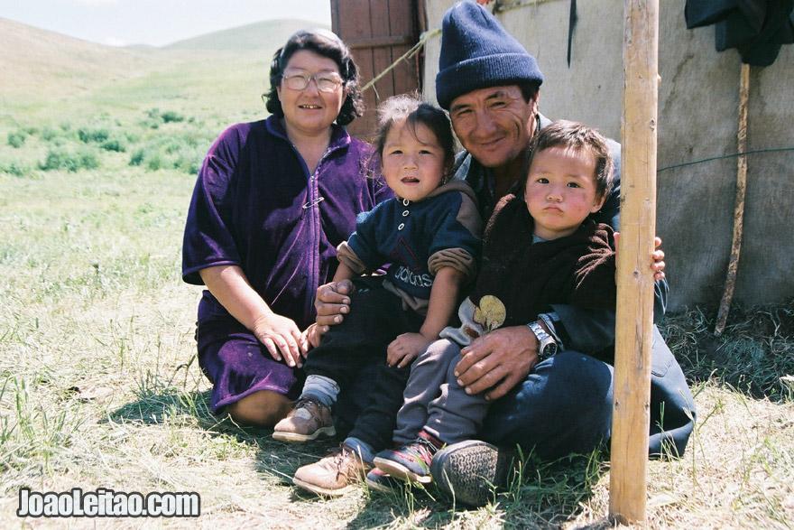Kazakh nomad family