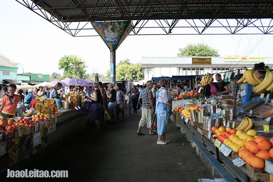 Tiraspol Market in Transnistria