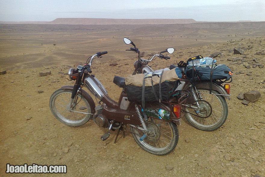 Motobecane motorcycle to Sahara Desert