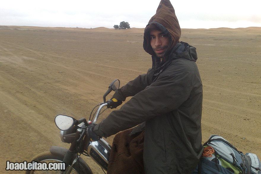Motorcycle in Merzouga - Erg Chebbi Dunes region