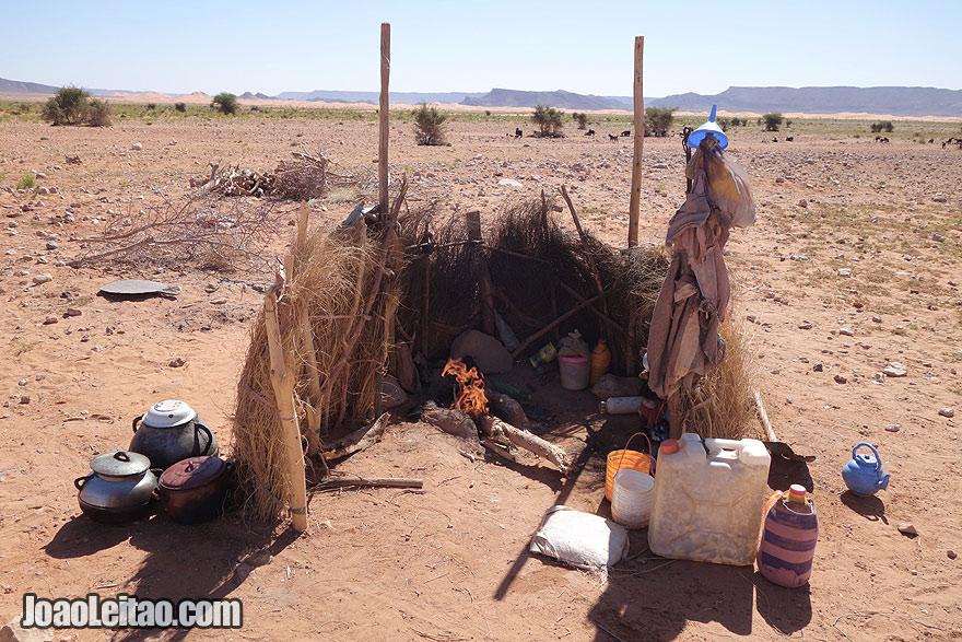 Cozinha nómada no deserto