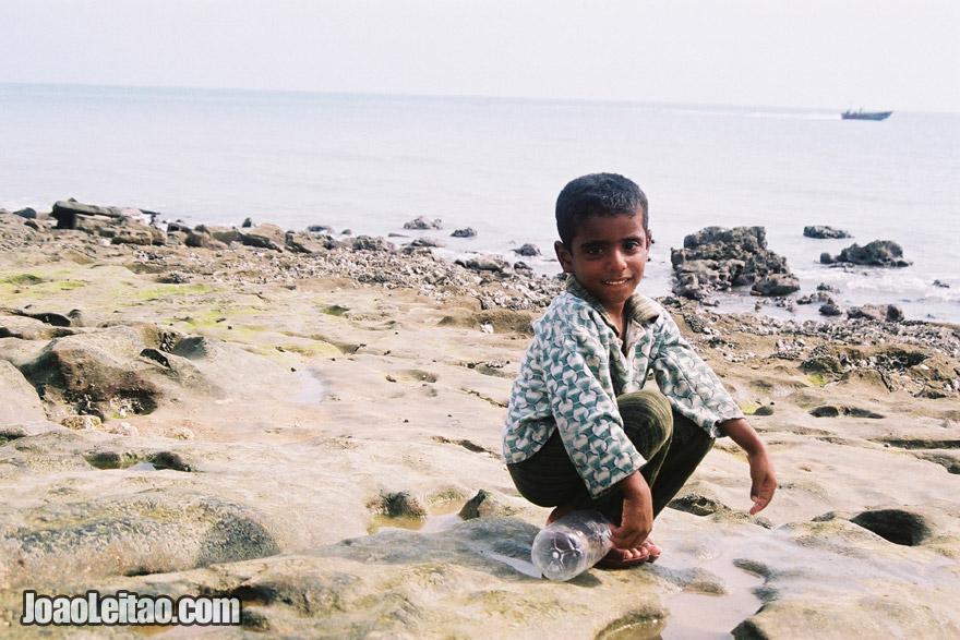 Boy on the beach of Qeshm Island, Iran