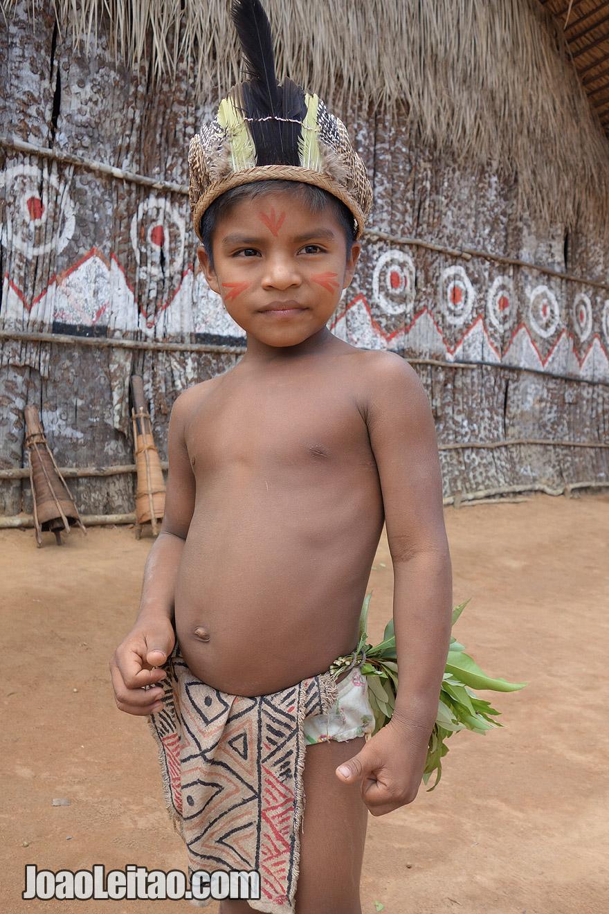 Amazon indigenous boy