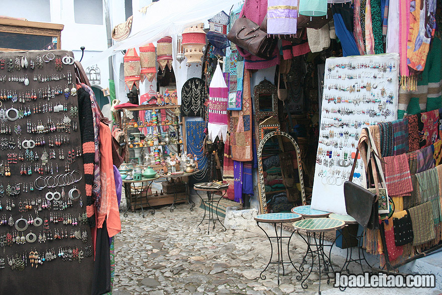 Souvenir shops in Chefchaouen
