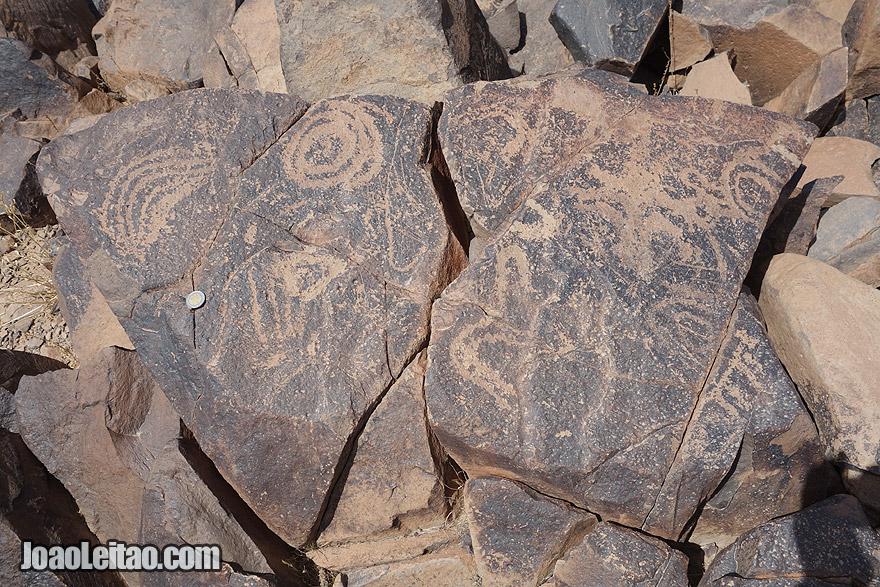 Petroglyphs near Ouarzazate