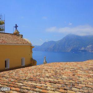 Church view in Amalfi Coast Italy