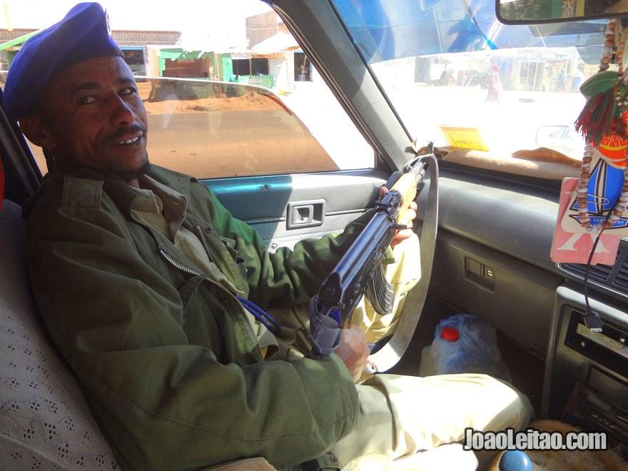 Army escort in Somaliland