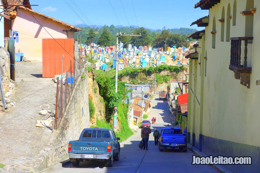 View of Chichicastenango cemetery