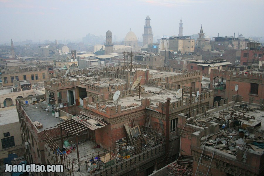 Impressive Khan el-Khalili district in old Cairo