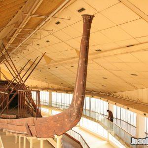 Interior view of the Solar Barque Museum