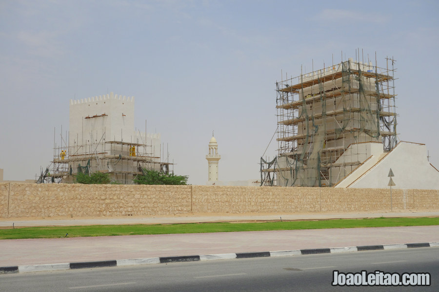 Barzan Towers in Qatar under restoration