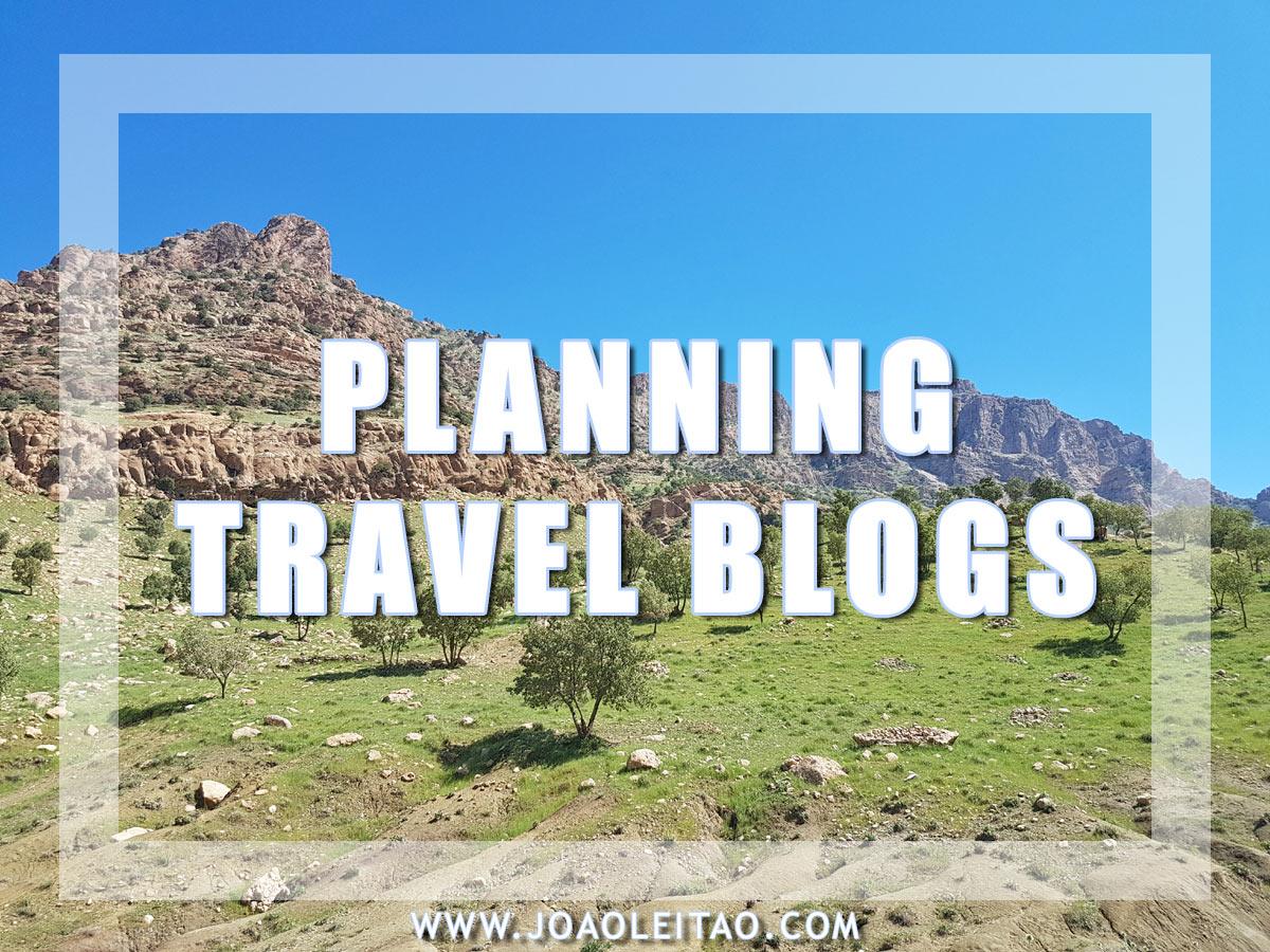 PLANNING TRAVEL BLOGS