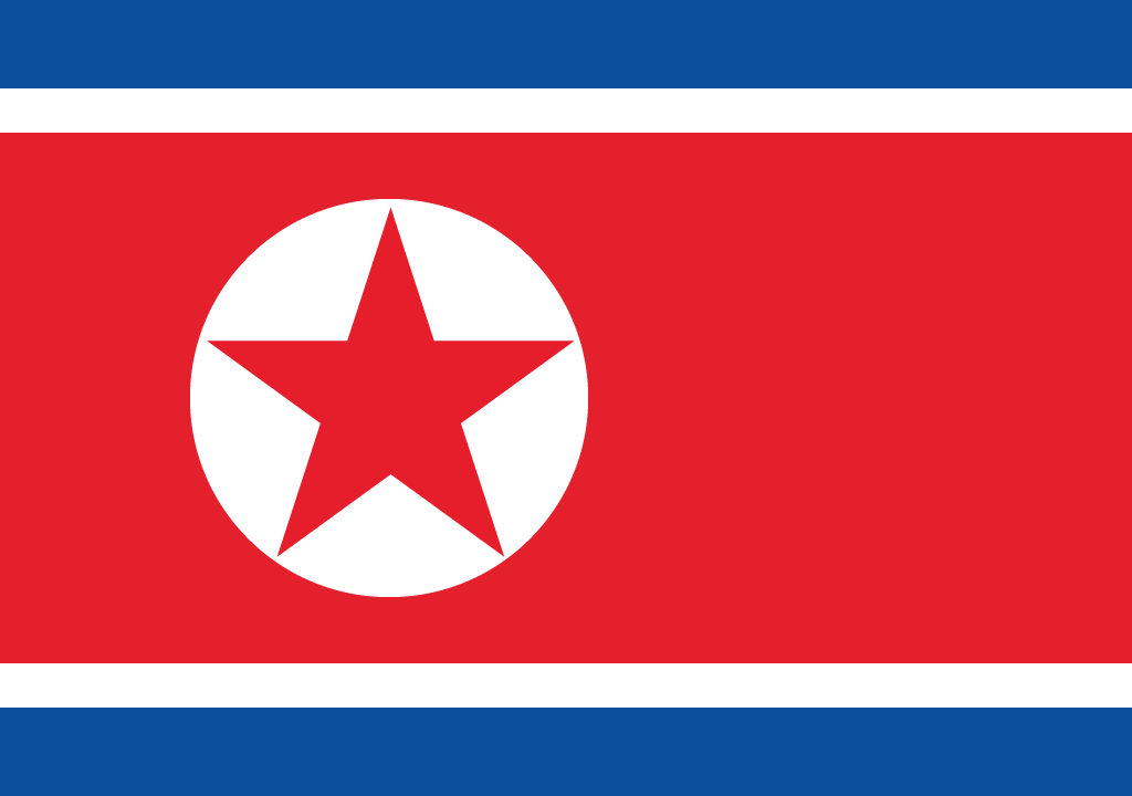BANDEIRA COREIA DO NORTE