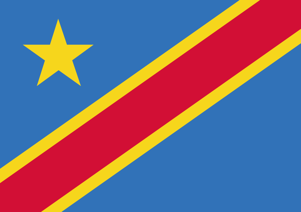 BANDEIRA DA REPUBLICA DEMOCRATICA DO CONGO