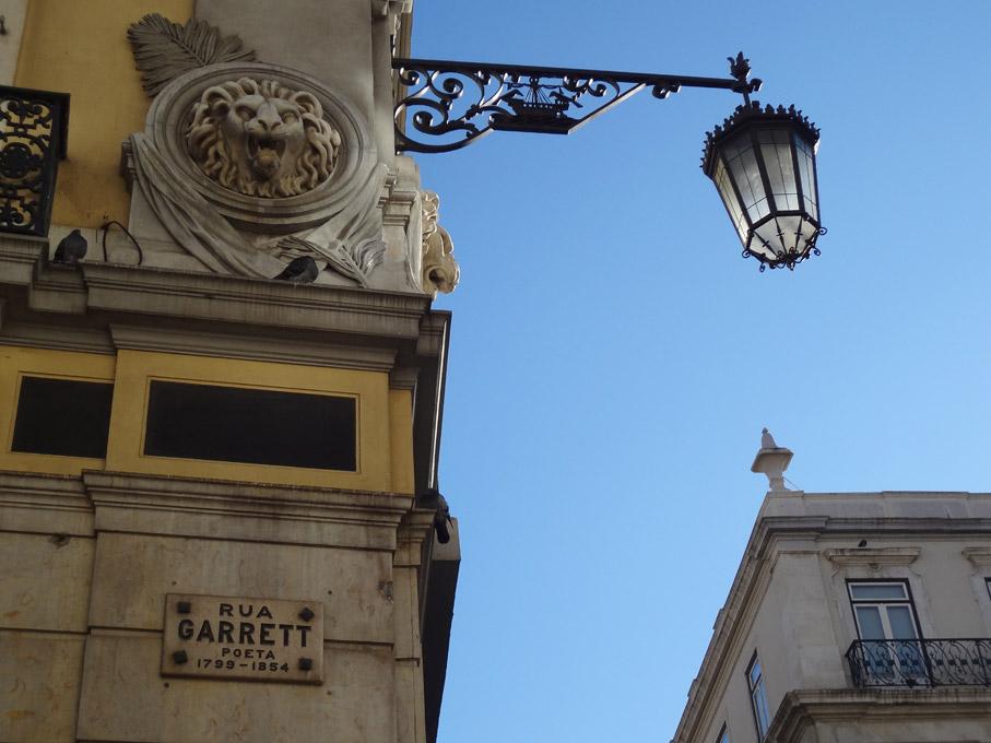Fotografia Placa da Rua Garrett, Chiado Lisboa