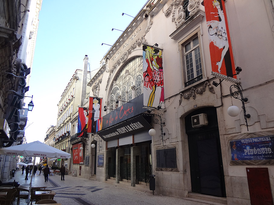Fotografia Teatro Politeama, Rua do Coliseu Lisboa