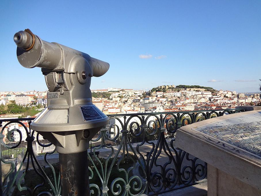 Fotografia Vista de Lisboa desde o Miradouro de S. Pedro de Alcântara, Bairro Alto Lisboa