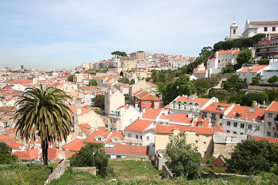 Fotografia Vista da Igreja da Graça desde a Encosta do Castelo, Lisboa
