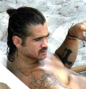 Colin Farrell Arabic Tattoo